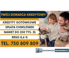 Kredyty do 200 tys, wypłata w ciągu jednego dnia. Bez formalności RRSO 7,9 procent
